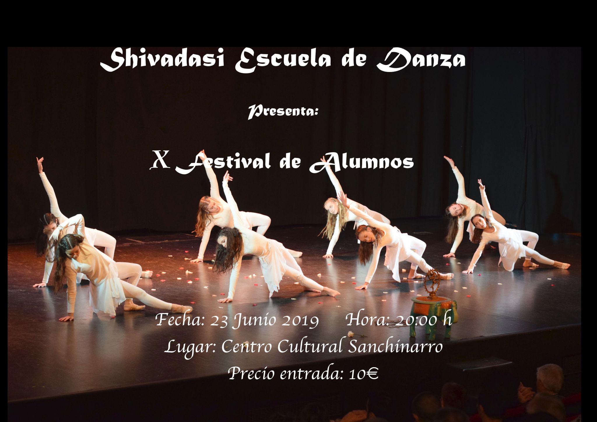 Shivadasi - Cartel Festival Danza - Junio 2019 - Las Tablas, Madrid